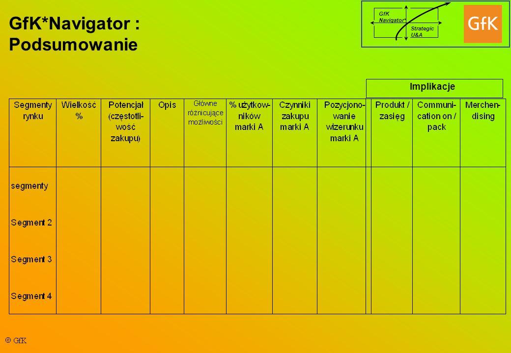 GfK*Navigator : Podsumowanie Implikacje