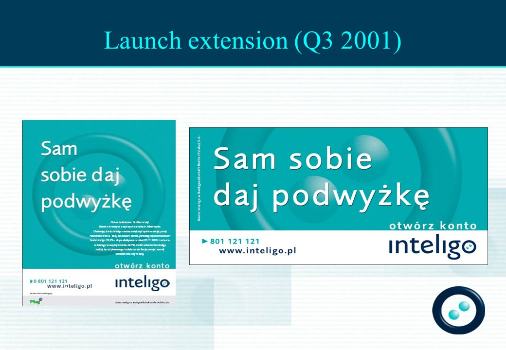 Launch extension (Q3 2001)