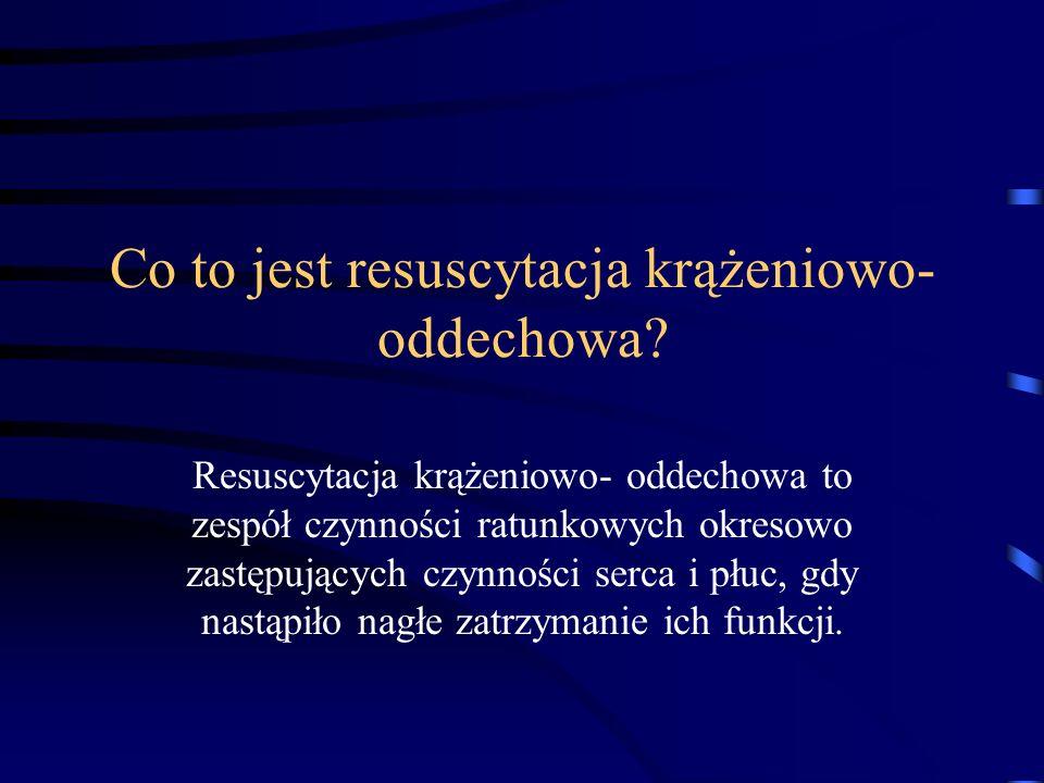 Co to jest resuscytacja krążeniowo- oddechowa