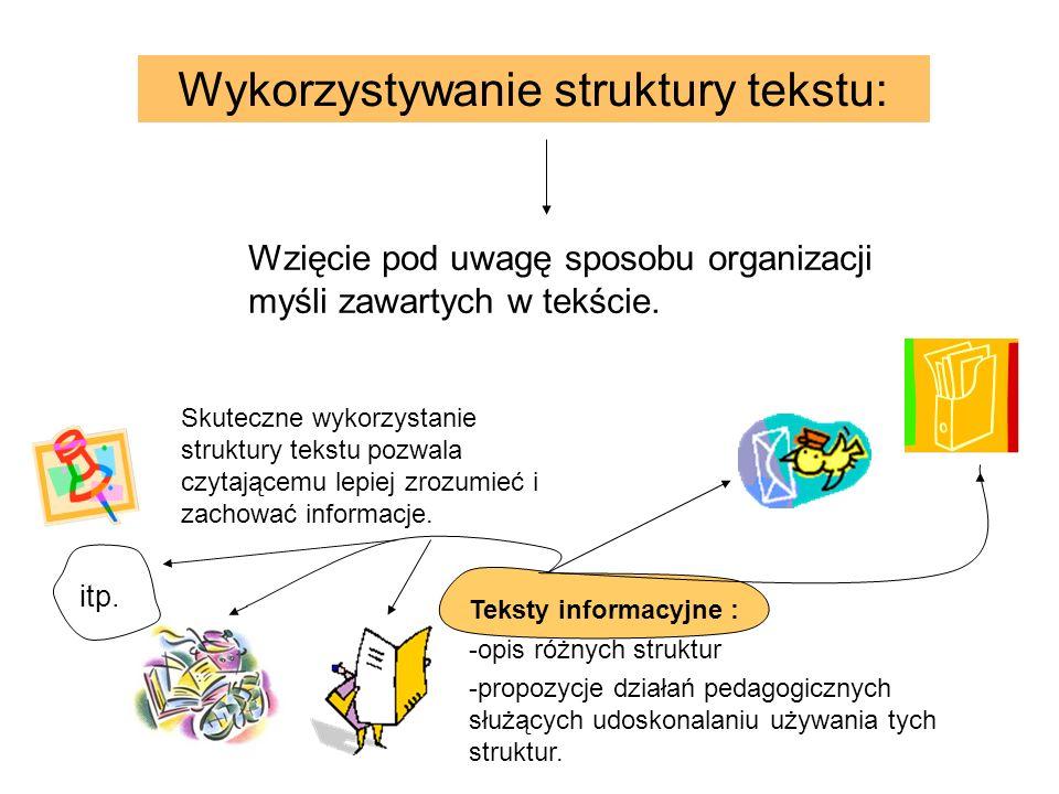 Wykorzystywanie struktury tekstu: