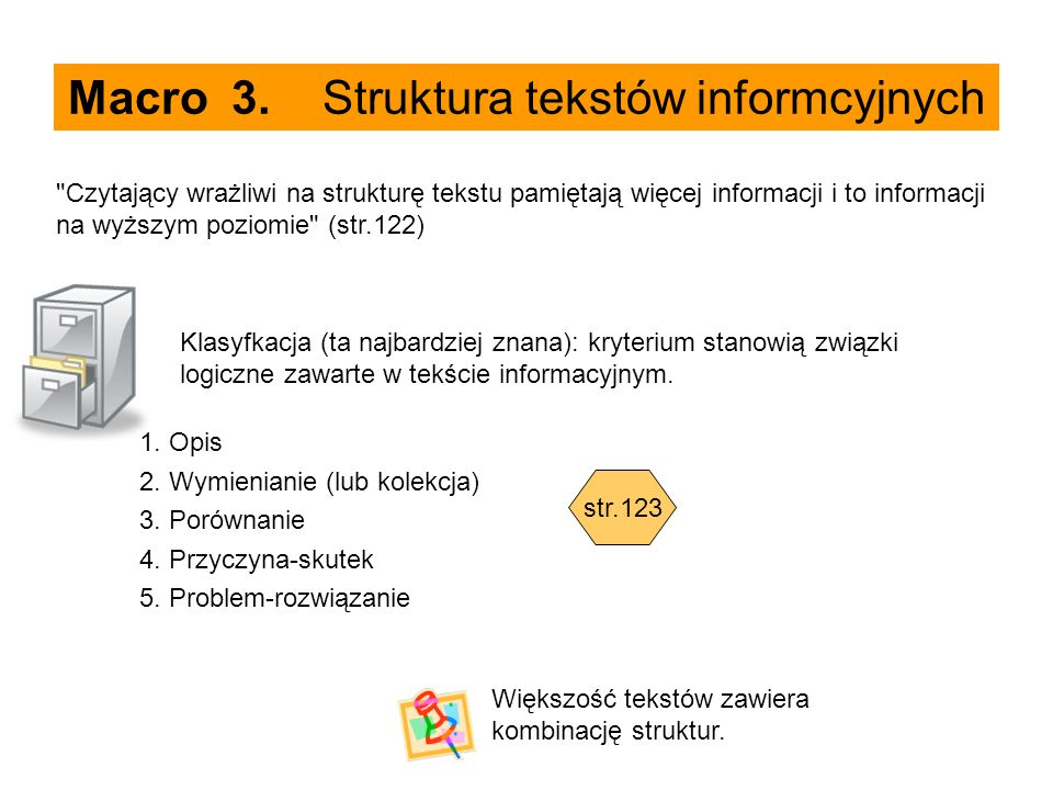 Macro 3. Struktura tekstów informcyjnych
