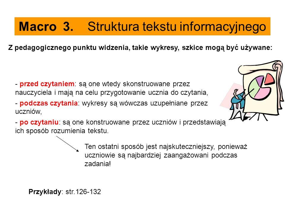 Macro 3. Struktura tekstu informacyjnego
