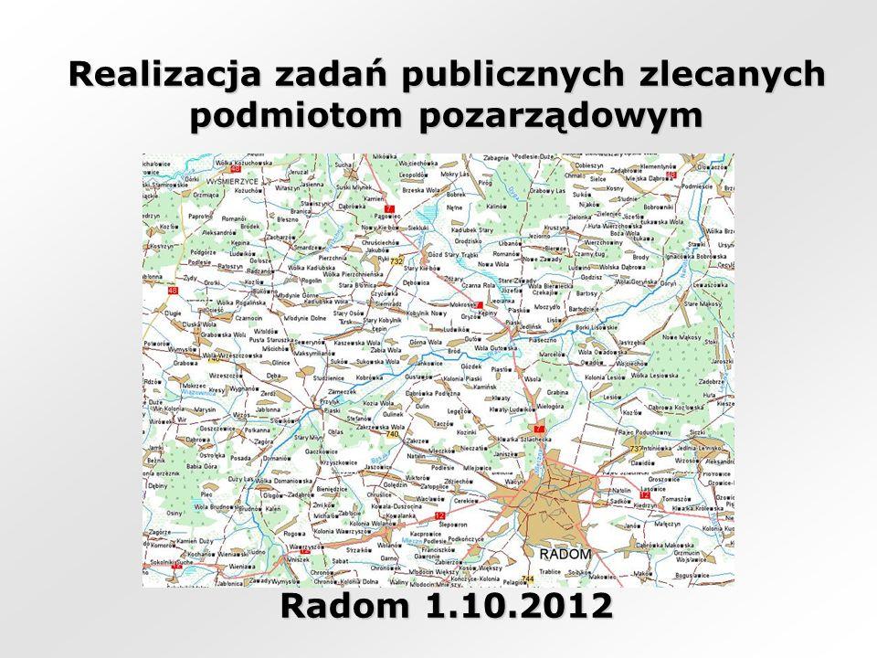 Realizacja zadań publicznych zlecanych podmiotom pozarządowym Radom 1