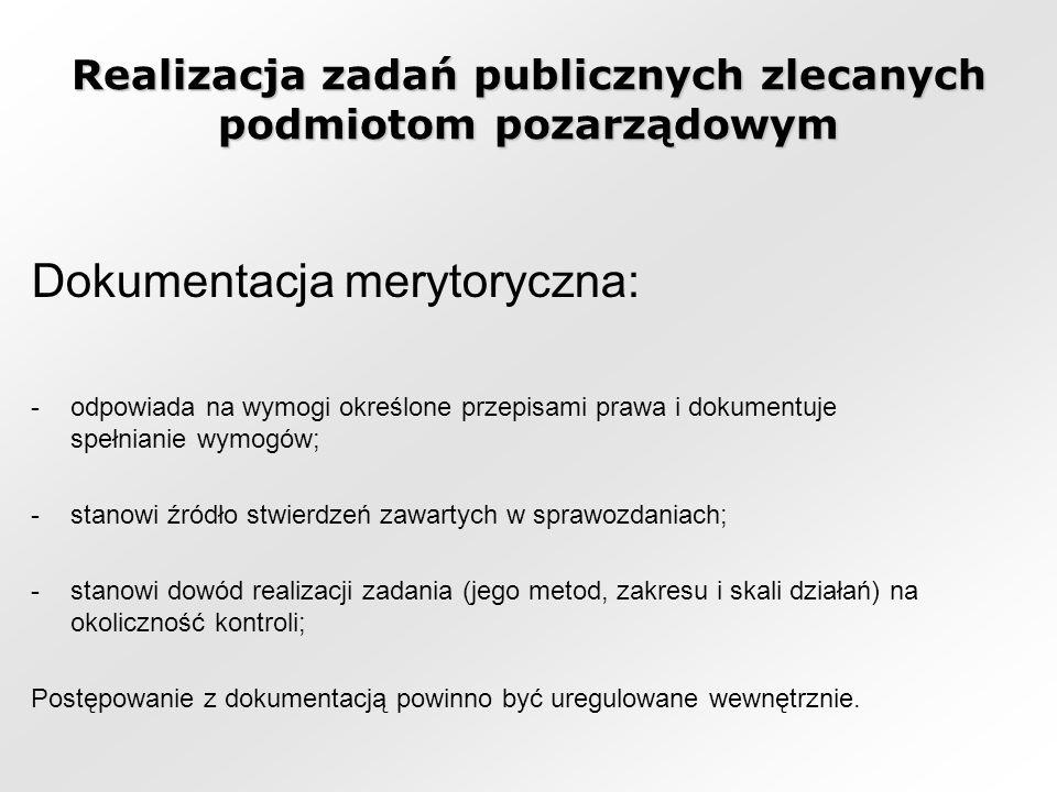 Realizacja zadań publicznych zlecanych podmiotom pozarządowym