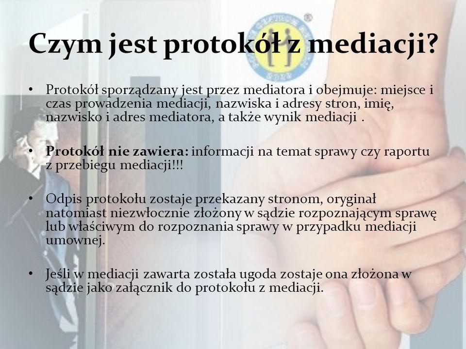Czym jest protokół z mediacji