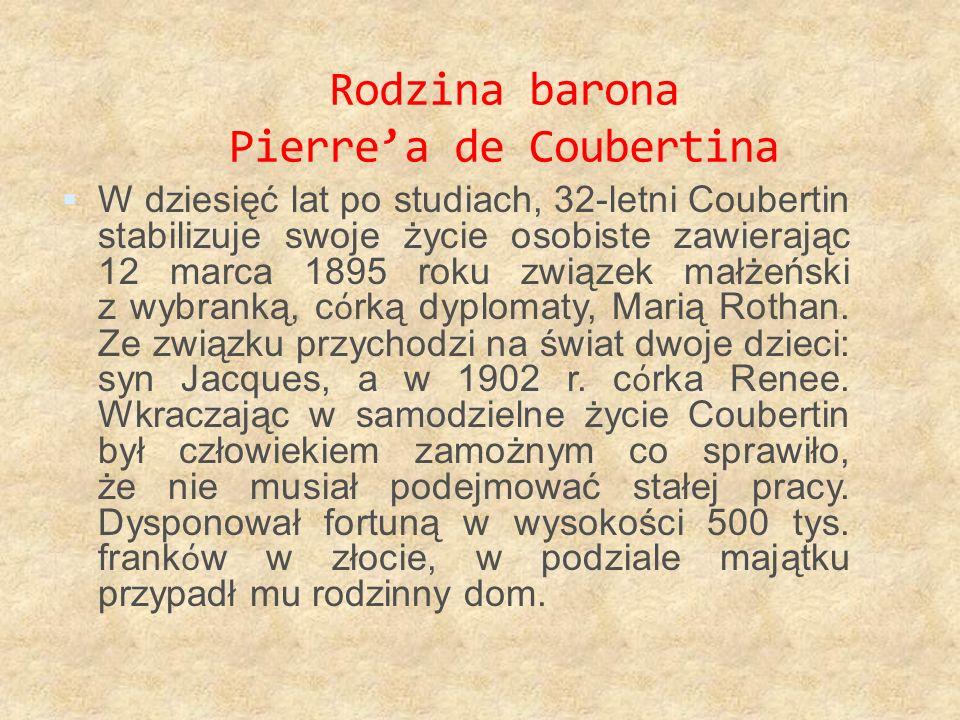 Rodzina barona Pierre'a de Coubertina