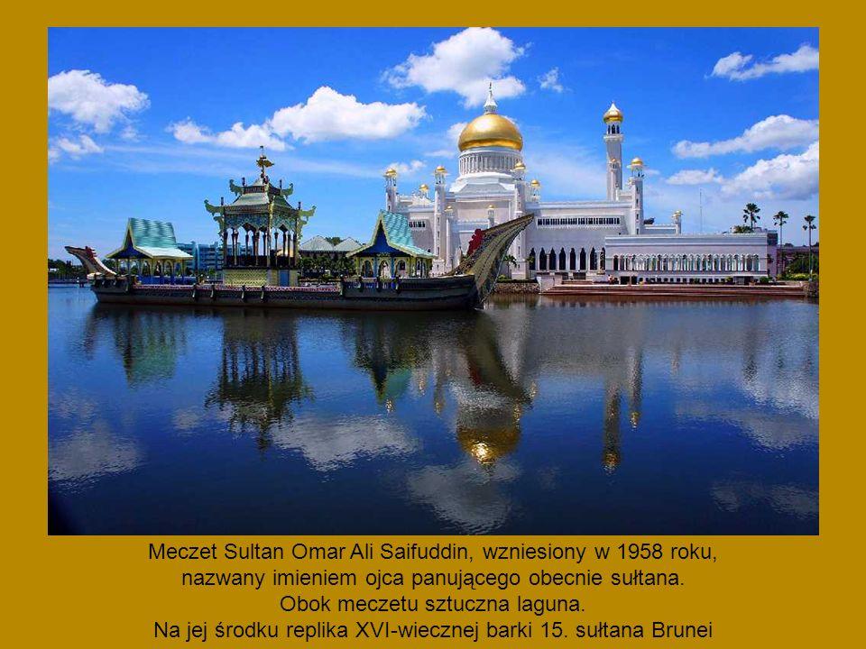Meczet Sultan Omar Ali Saifuddin, wzniesiony w 1958 roku,