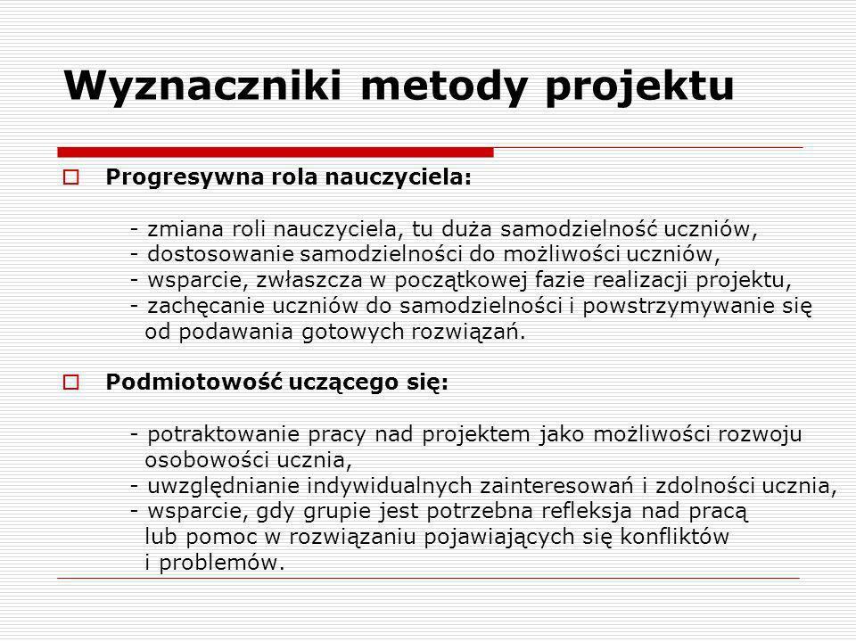 Wyznaczniki metody projektu