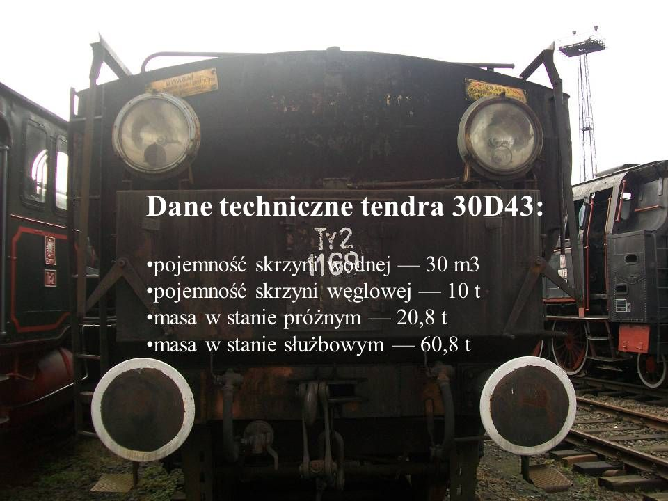 Dane techniczne tendra 30D43: