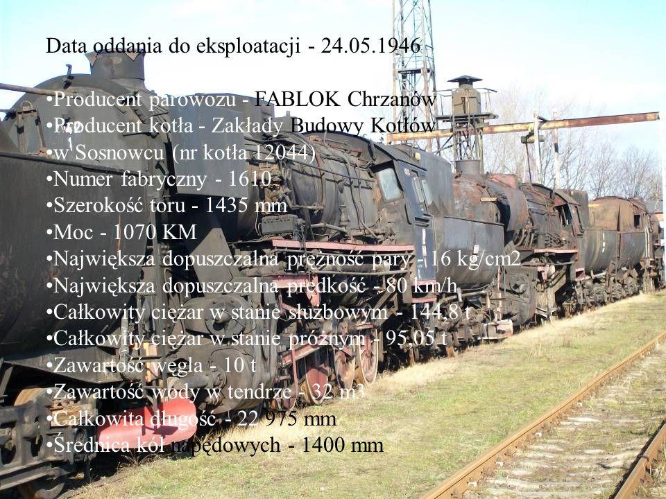 Data oddania do eksploatacji - 24.05.1946