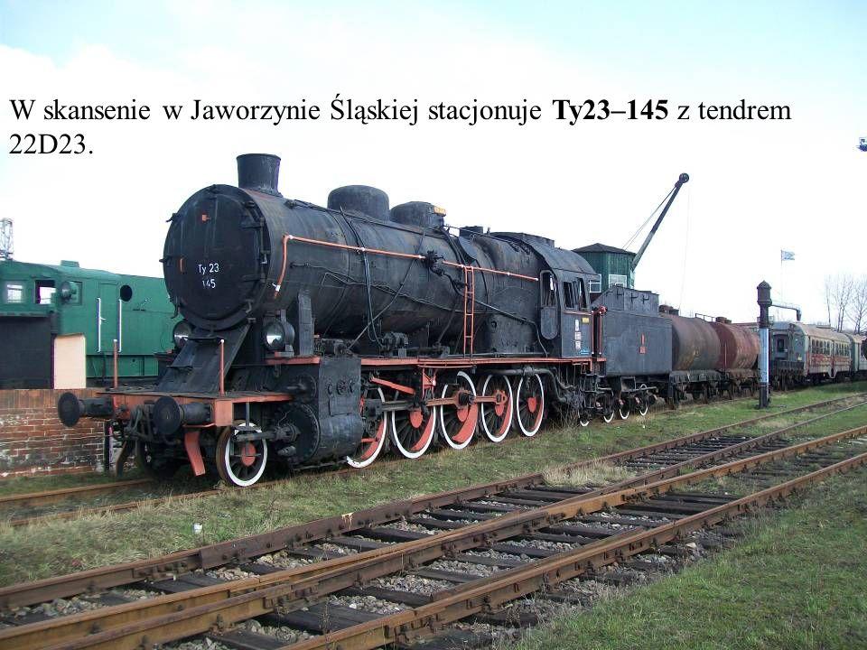 W skansenie w Jaworzynie Śląskiej stacjonuje Ty23–145 z tendrem 22D23.
