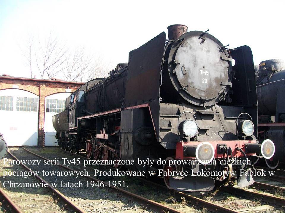 Parowozy serii Ty45 przeznaczone były do prowadzenia ciężkich pociągów towarowych.