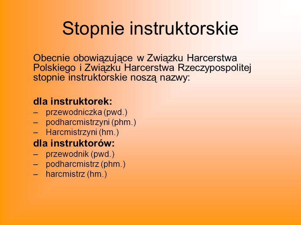 Stopnie instruktorskie