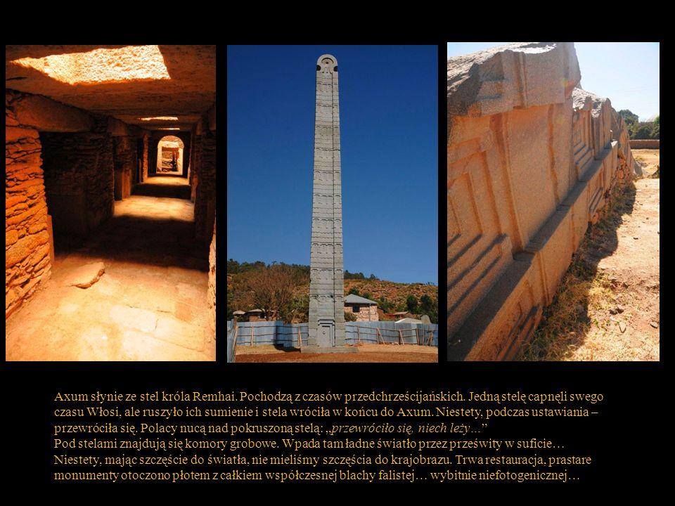 Axum słynie ze stel króla Remhai