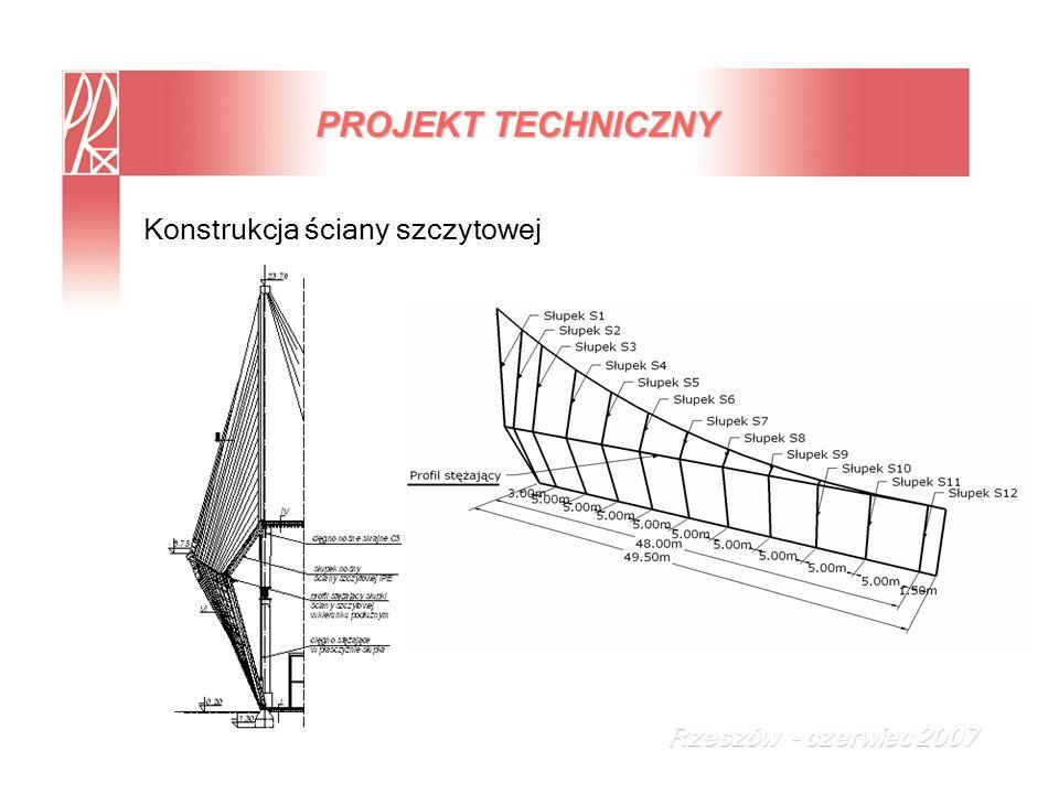 PROJEKT TECHNICZNY Konstrukcja ściany szczytowej