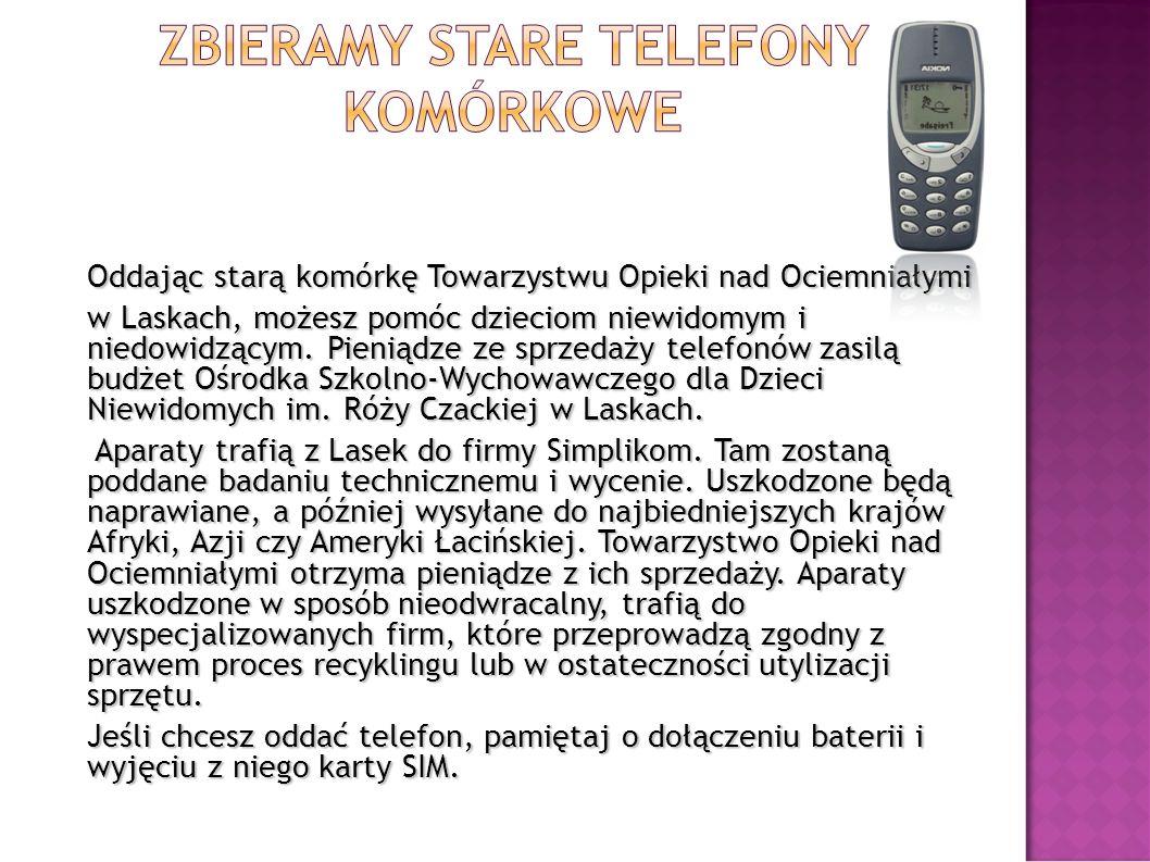 Zbieramy stare telefony komórkowe