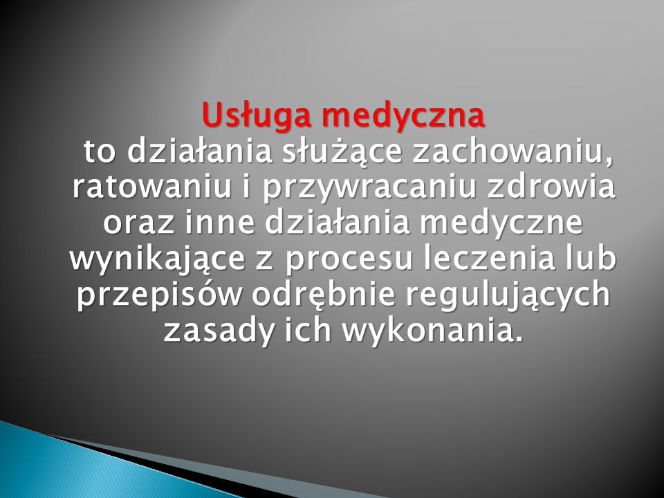 Usługa medyczna