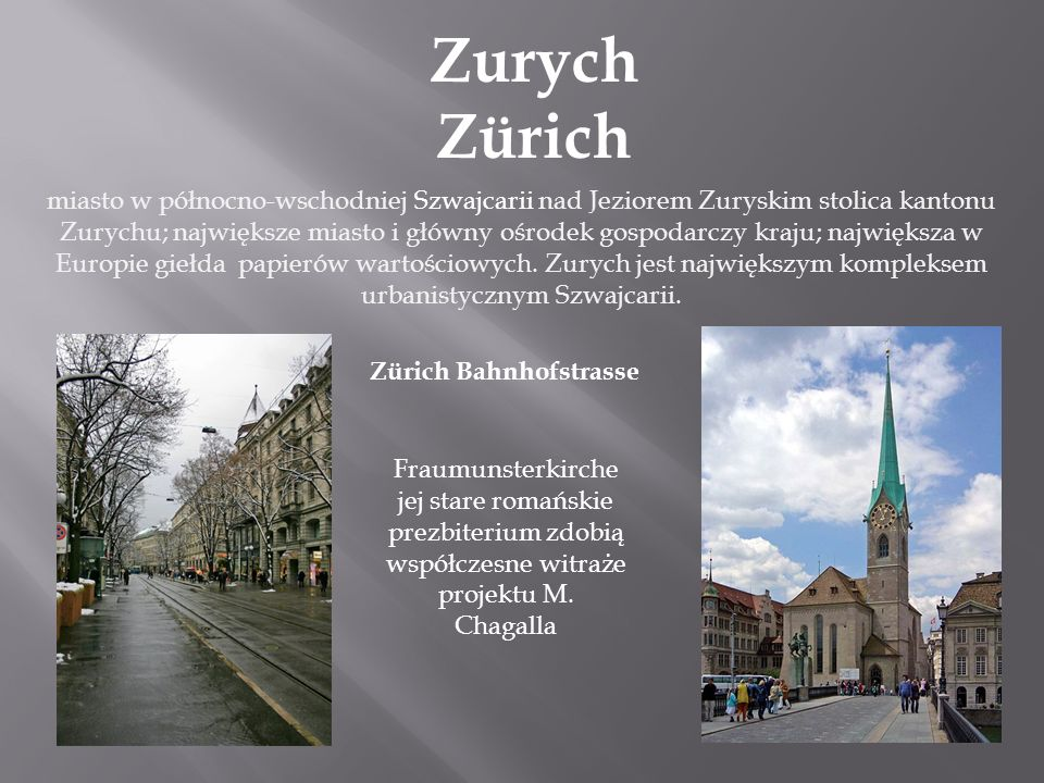 Zurych Zürich
