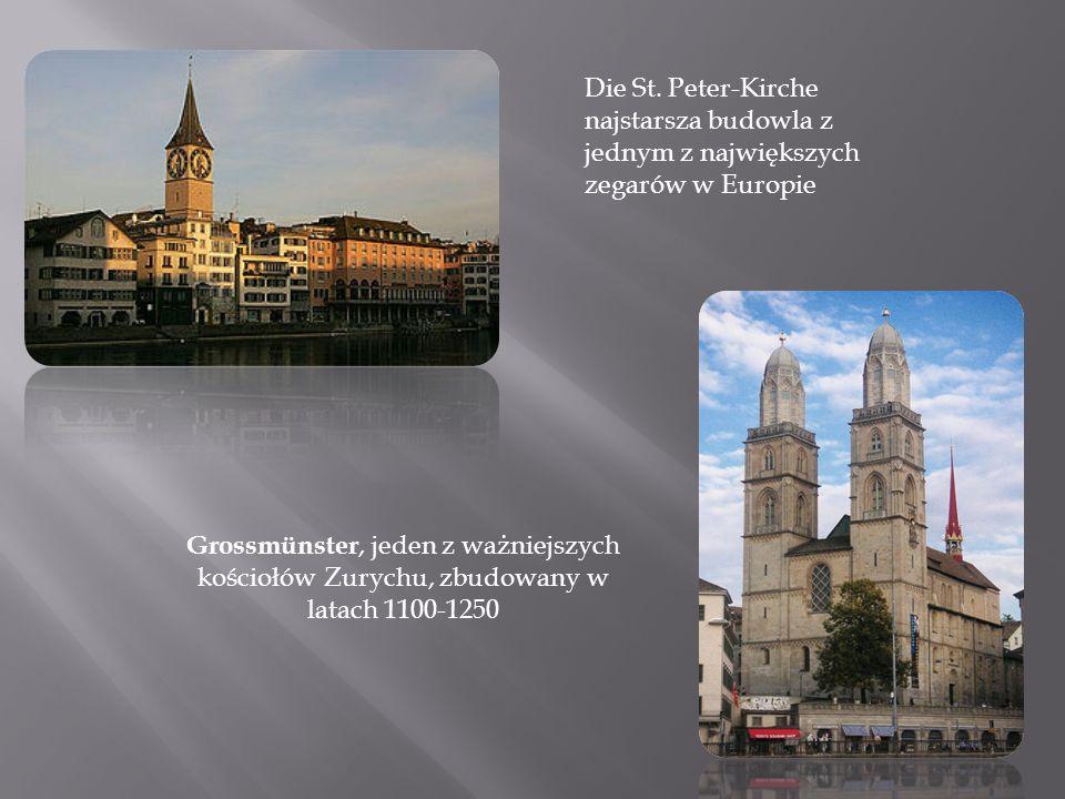 Die St. Peter-Kirche najstarsza budowla z jednym z największych zegarów w Europie