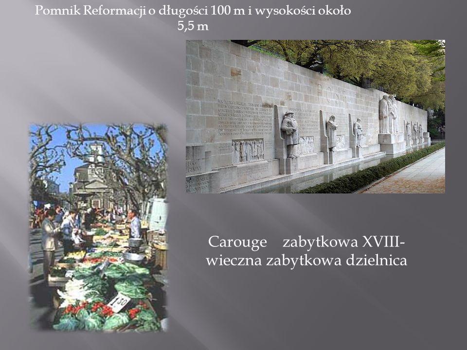 Carouge zabytkowa XVIII-wieczna zabytkowa dzielnica
