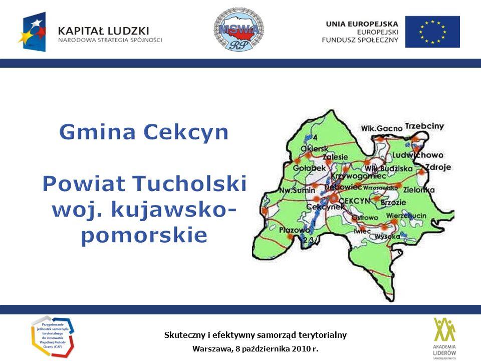 Gmina Cekcyn Powiat Tucholski woj. kujawsko-pomorskie