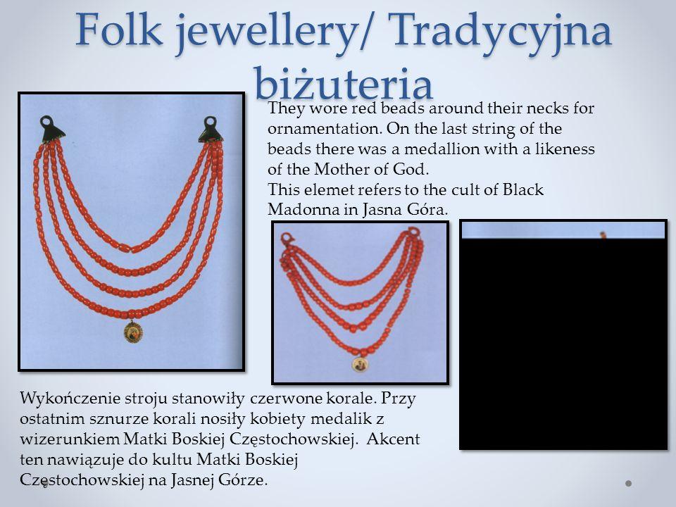 Folk jewellery/ Tradycyjna biżuteria