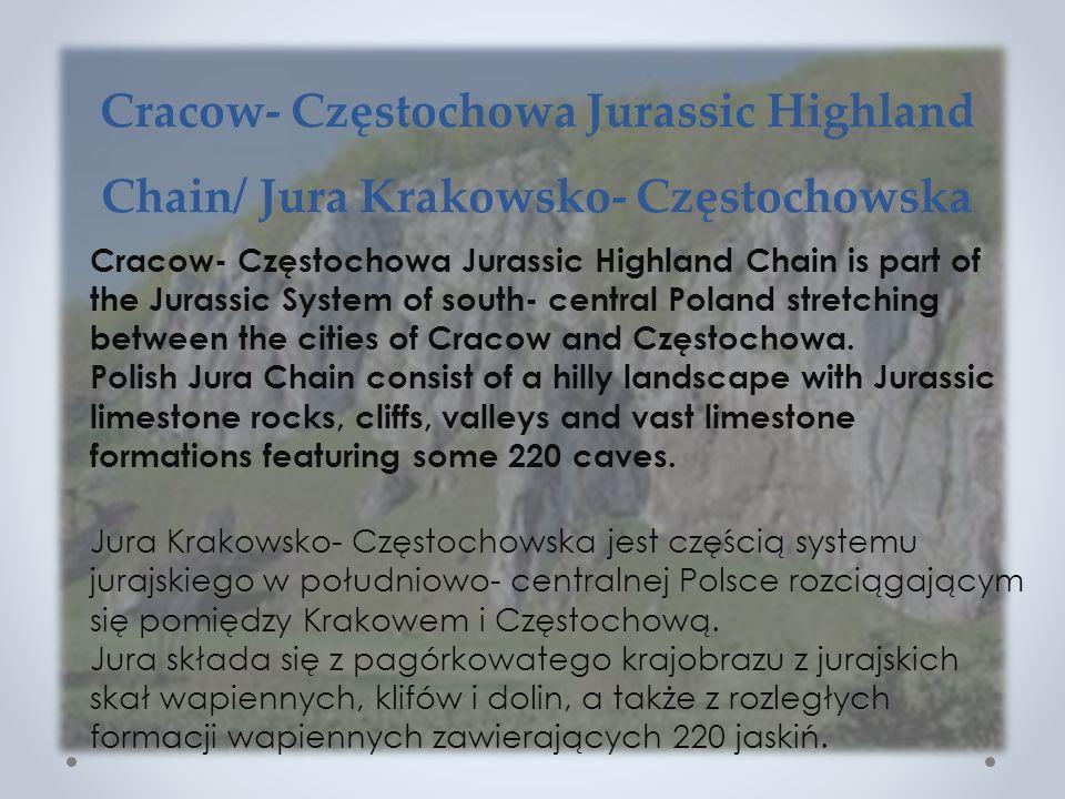 Cracow- Częstochowa Jurassic Highland Chain/ Jura Krakowsko- Częstochowska