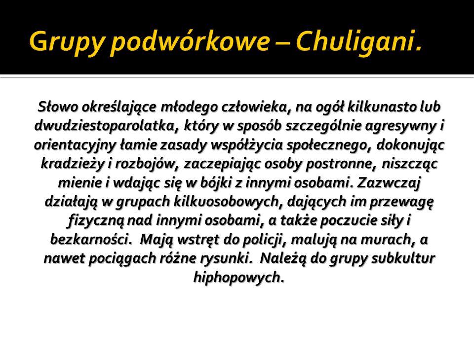 Grupy podwórkowe – Chuligani.