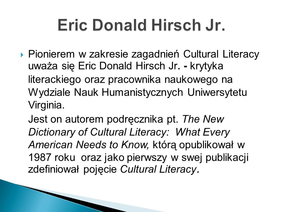 Eric Donald Hirsch Jr.
