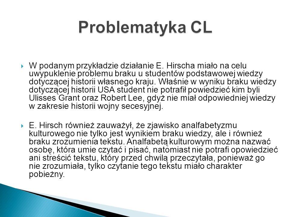 Problematyka CL