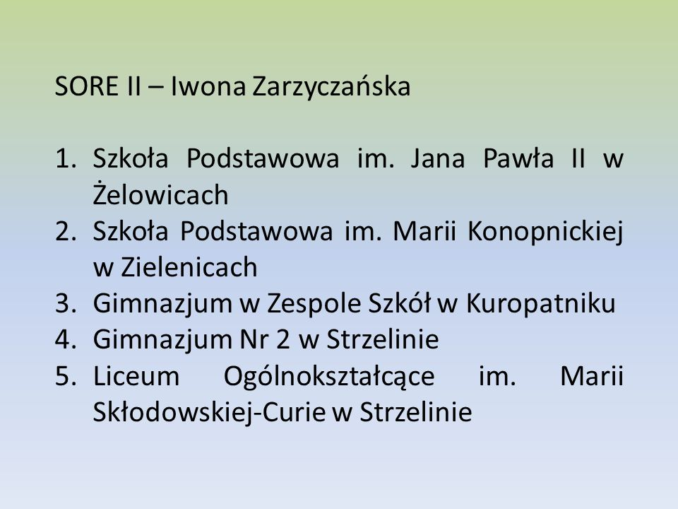 SORE II – Iwona Zarzyczańska