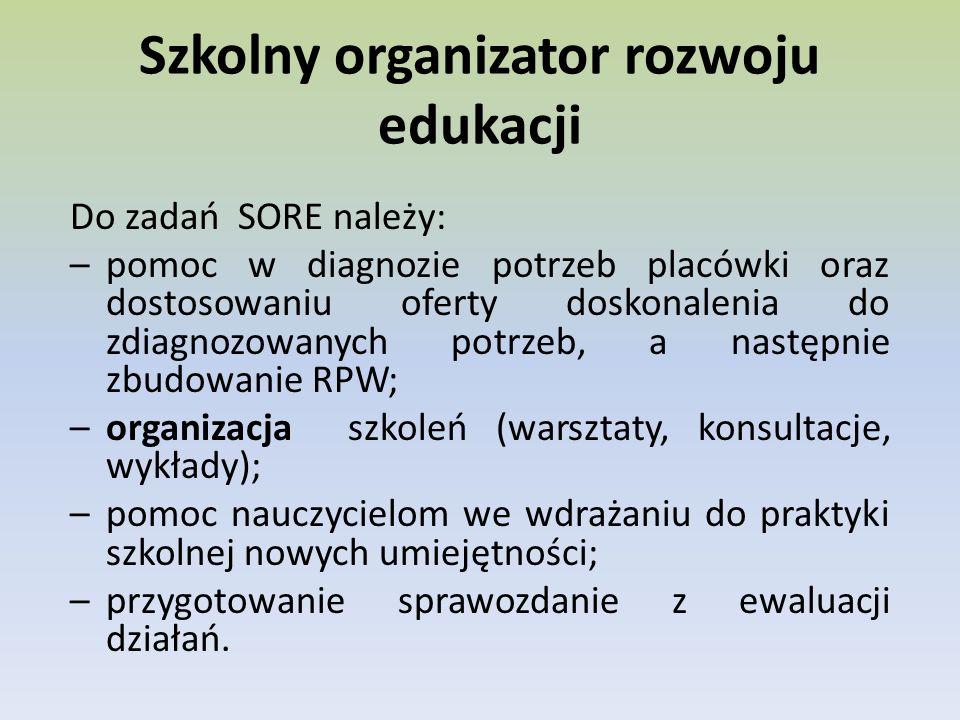 Szkolny organizator rozwoju edukacji