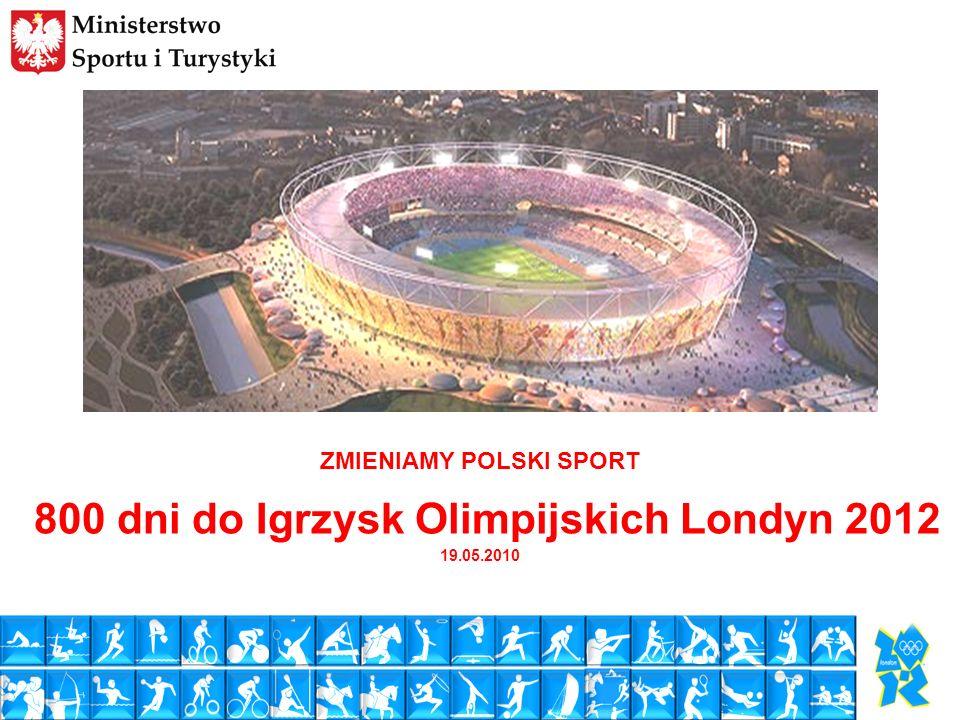 ZMIENIAMY POLSKI SPORT 800 dni do Igrzysk Olimpijskich Londyn 2012