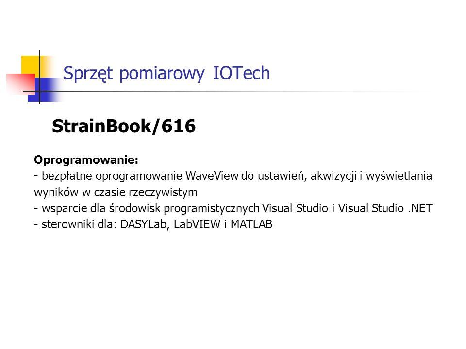 Sprzęt pomiarowy IOTech