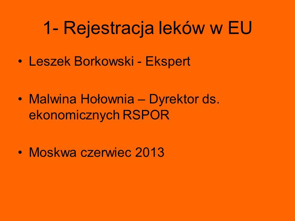 1- Rejestracja leków w EU
