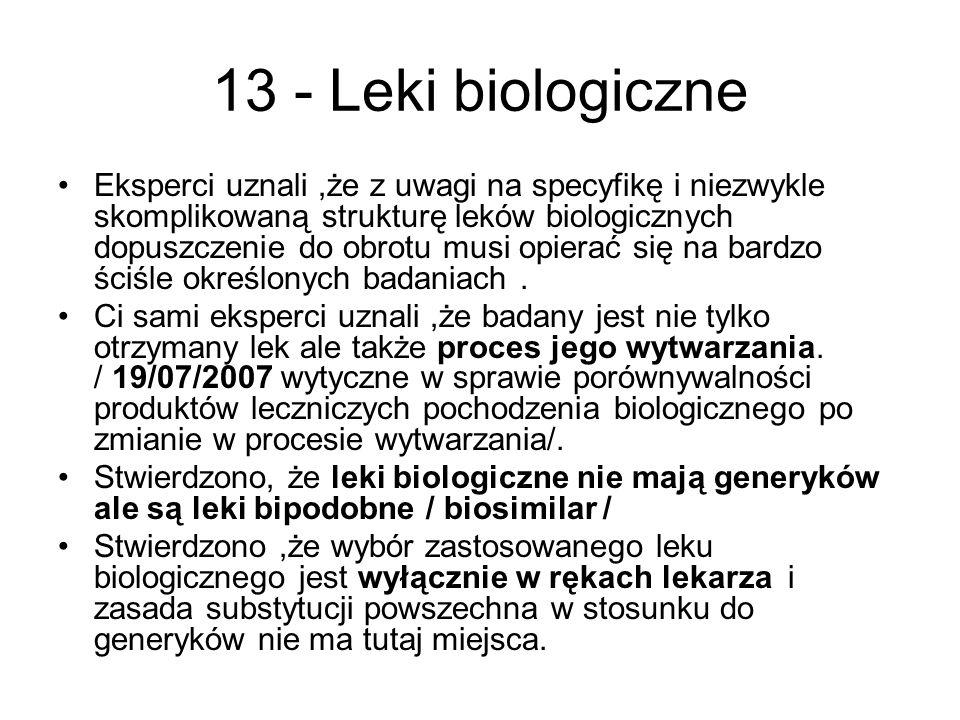 13 - Leki biologiczne