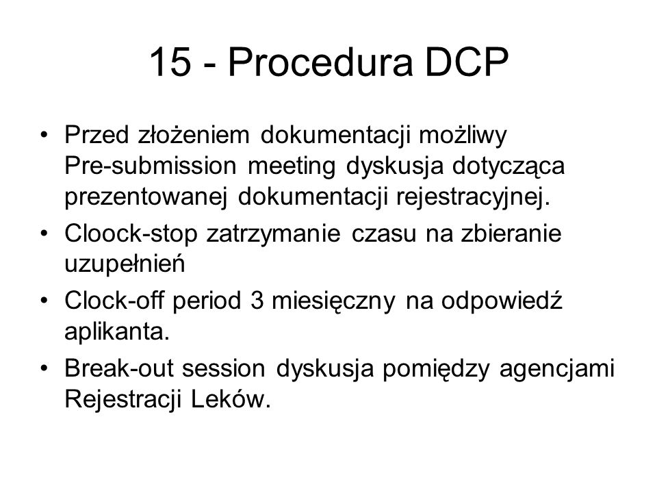 15 - Procedura DCP