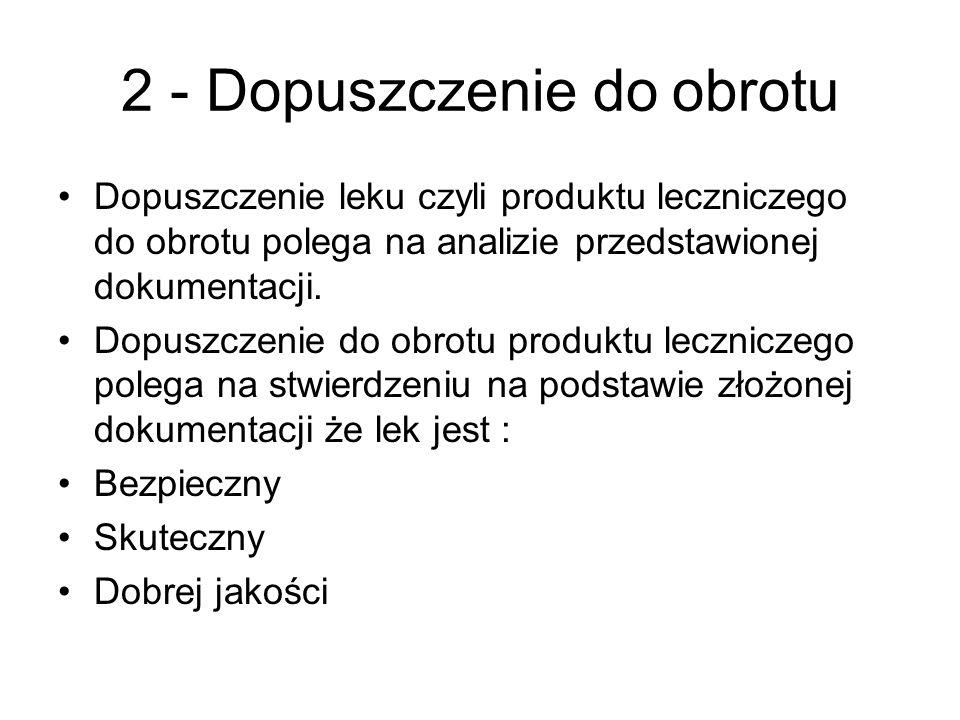 2 - Dopuszczenie do obrotu