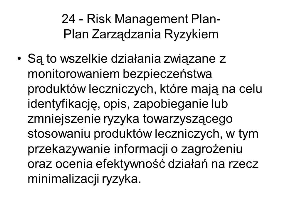 24 - Risk Management Plan- Plan Zarządzania Ryzykiem