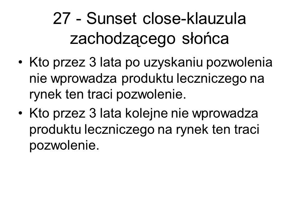 27 - Sunset close-klauzula zachodzącego słońca