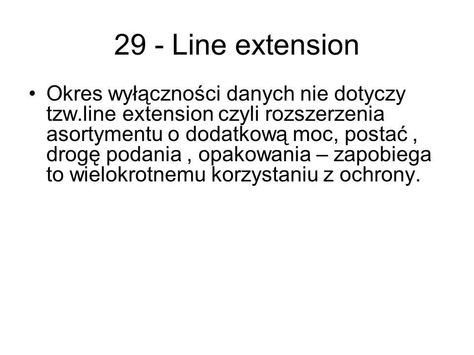 29 - Line extension