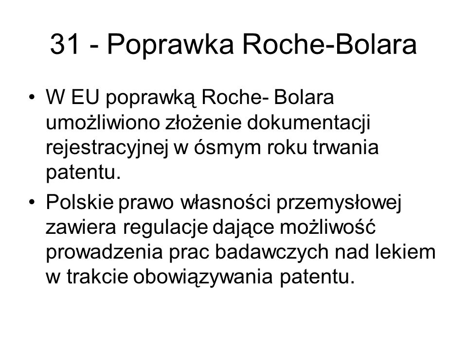 31 - Poprawka Roche-Bolara