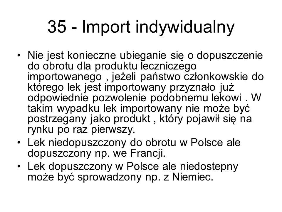 35 - Import indywidualny