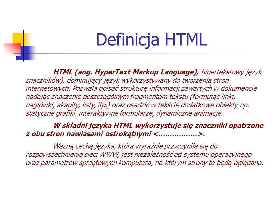 Definicja HTML