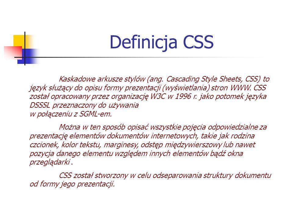 Definicja CSS