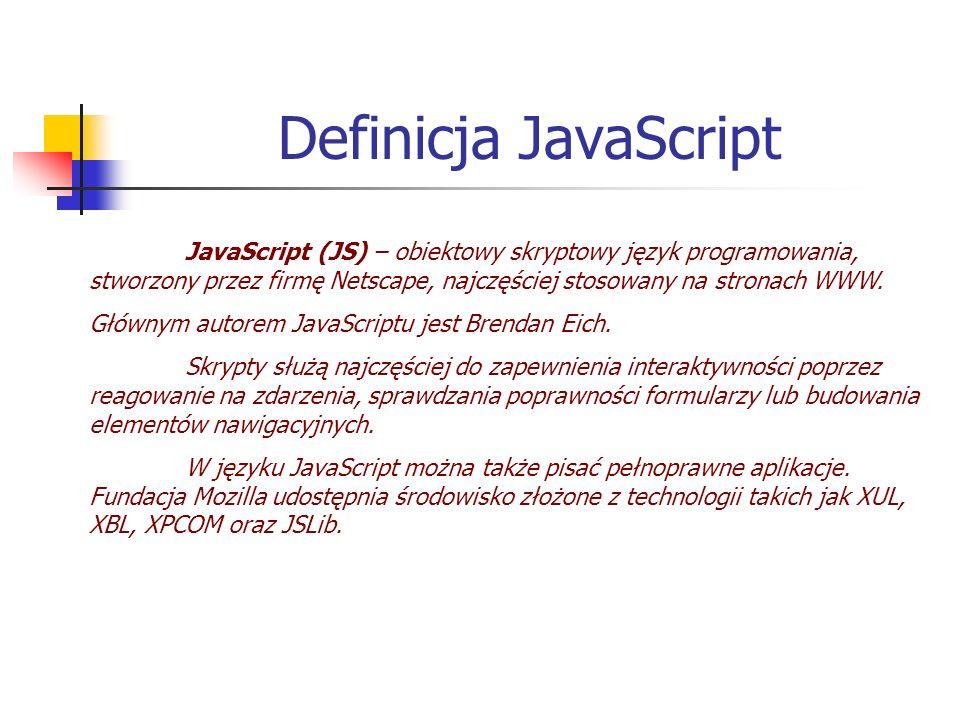 Definicja JavaScript