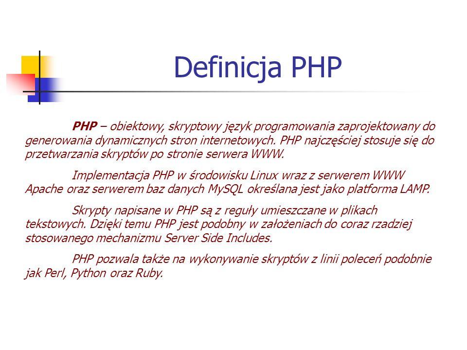 Definicja PHP