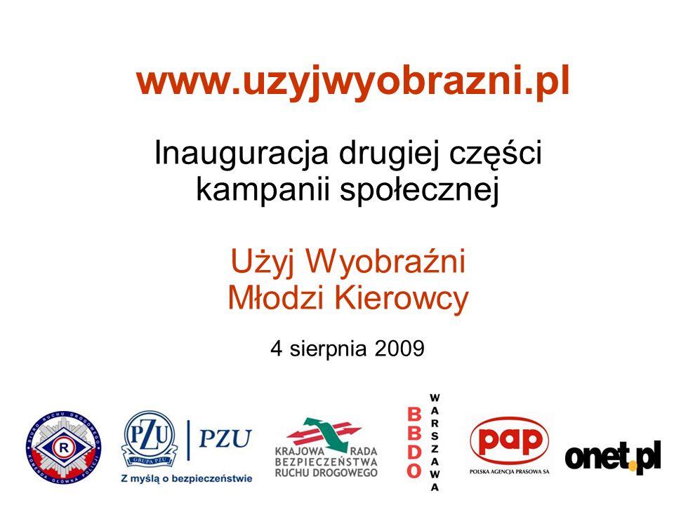Inauguracja drugiej części kampanii społecznej Użyj Wyobraźni Młodzi Kierowcy 4 sierpnia 2009