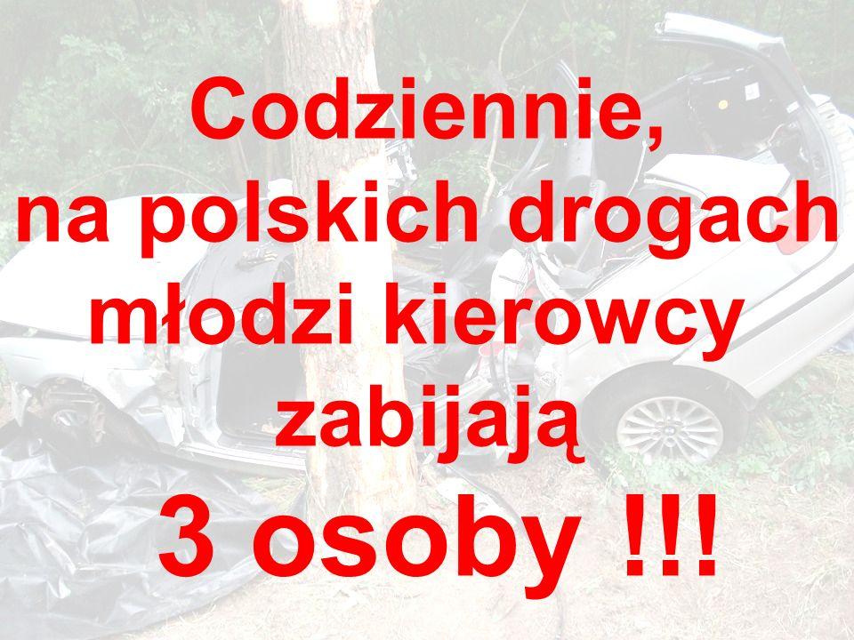 Codziennie, na polskich drogach młodzi kierowcy zabijają 3 osoby !!!