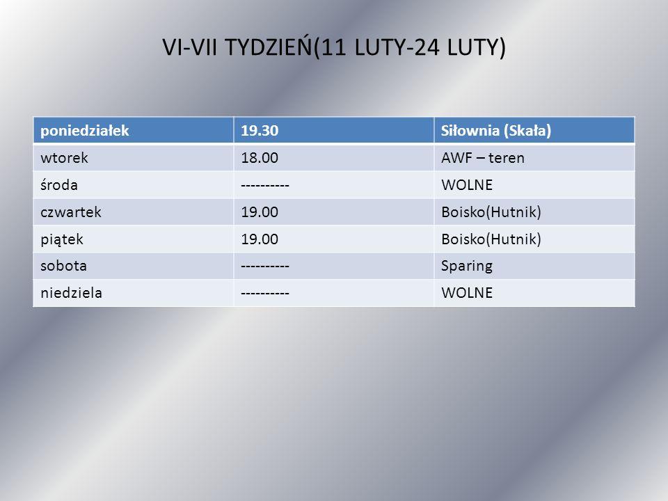 VI-VII TYDZIEŃ(11 LUTY-24 LUTY)